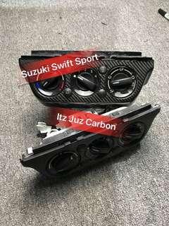(Ready Stock)Suzuki Swift Sport Carbon aircon climate panel