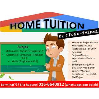 Home Tuition / Personal Tutor