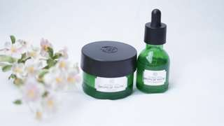 The body shop drops of youth concentrate (yg youth creme nya sudah sold) dipakai 20-30% buy at TBS mall ciputra