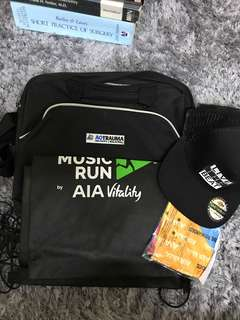 Music run snapbacks bag & AO trauma messenger