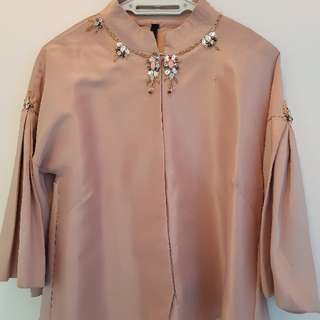 The_Ribbons thai silk embelished top