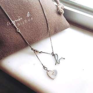 agnes b 925 silver necklace