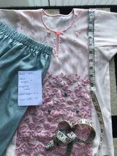 Baju Kurung lace preloved 2-3yrs