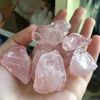 Rose Quartz Crystals (Raw Form)