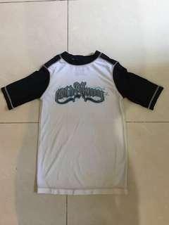 Old Navy6-7yrs short sleeve rash guard/swim shirt短袖防曬衣