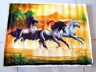 The Race- Oil Painting on Canvas