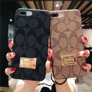 100% Brand New Instocks Ready Stocks 2 Colors Textured PU Leather Full Coverage Hard Shell Designer Coach Inspired Mobile Hand Cell HP Phone Case Casing Cover Shell Sleeve - Apple IPhone 6/6S, 6/6S Plus, IPhone7, 7Plus, IPhone8, 8Plus, X Ten 10 + 7 8