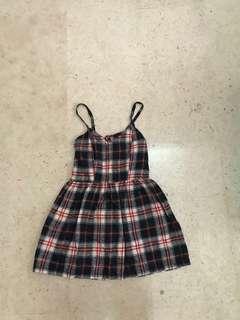 Spiked giham dress
