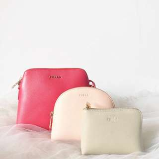 All three Furla boheme xl crossbody sz 20x16
