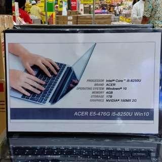 Kredit Laptop acer E5476G i5 8250U Win 10 promo gratis 1x cicilan Dp mulai 10%+adm proses cepat 3menit