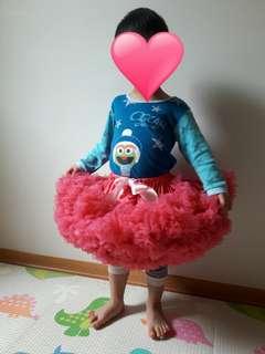 [二手近全新]美國Chic Baby Rose澎澎裙-Raspberry
