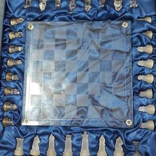 Unique Glass Chess Set