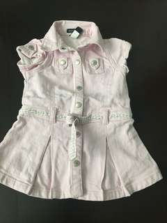 Denim dress baby GAP 6 to 12 mths