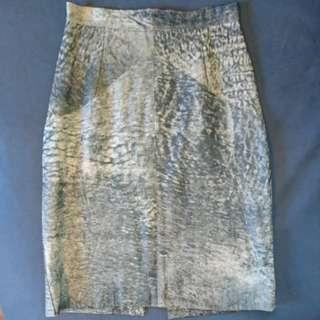 Vintage/ high waist Leather Skirt