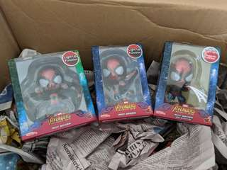 Hot toys cosbaby iron spider stock set of 3