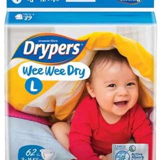 Drypers wee wee L