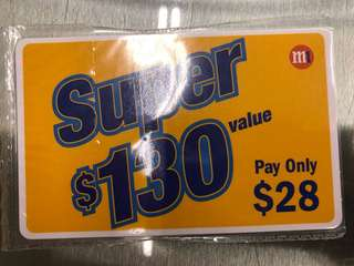 M1 Prepaid Card Super $130 value