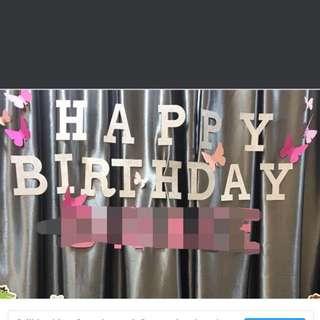 Happy birthday banner decoration