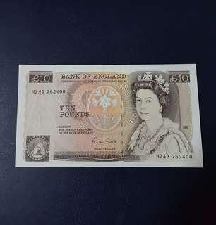 🇬🇧 1988 England £10 Ten Pound Paper Banknote