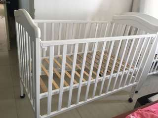 2 x baby cot + matress for sale