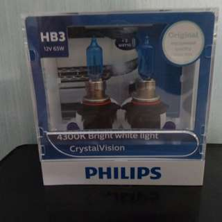 Philips Crystal Vision 4300K HB3 Headlight Bulb (1 Pair)