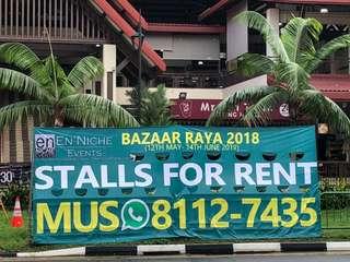 Ramadan Bazaar BOOTHS / STALLS FOR RENT!