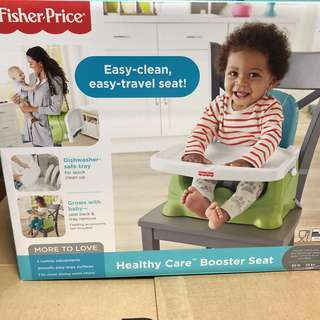 *last piece* Fisher-Price Healthy Care Booster Seat, Green/Blue