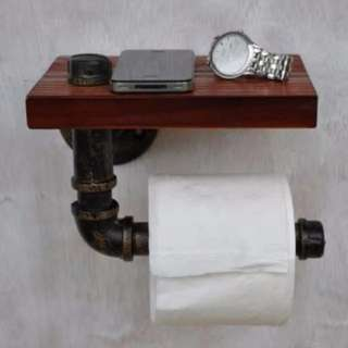 WSS004 Apr Hot Sales! Toilet Pipe Roll, Paper Holder, Solid wood, WSS