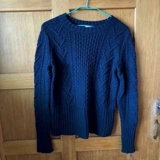🚚 GAP深藍質感毛衣(冬季出清)