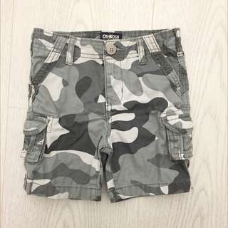 OshKosh 迷彩短工作短褲