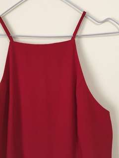 Red Frill Dress