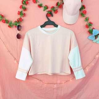 Pastel pink croptop