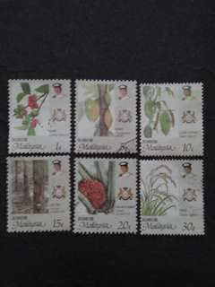 Malaysia 1986 Johor Agro-Based Products Loose Set - 6v Mix MH & Used Stamps