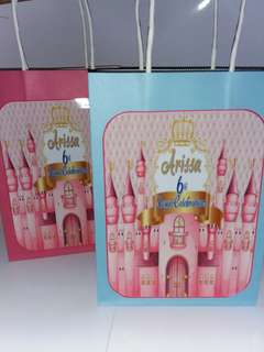Customised Castle Theme Goodie Bag