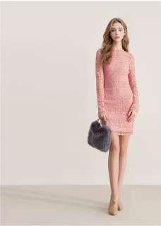 💕轉賣CHIAO聯名鏤空美背緞面綁帶蕾絲洋裝💕