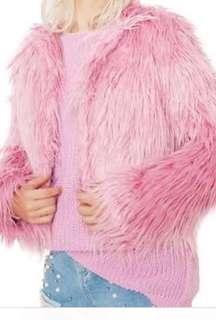 Glamorous Luving you shag coat festival pink fur jacket dollskill
