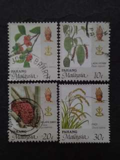 Malaysia 1986 Pahang Agro-Based Products Loose Set - 4v Used Stamps