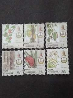 Malaysia 1986 Perak Agro-Based Products Loose Set - 6v Mix MH & Used Stamps