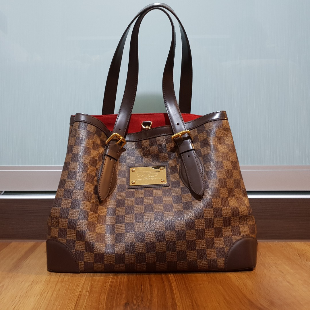 52b4f75d9e13 LOUIS VUITTON Hampstead MM Shoulder Tote Bag Damier N51204