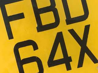 Special Number Plate FBD 64X