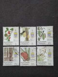 Malaysia 1986 Penang Agro-Based Products Loose Set - 6v Mix MH & Used Stamps