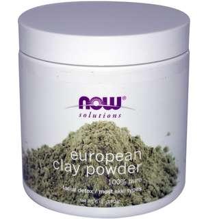 Now Foods, Solutions, European Clay Powder, Facial Detox, 6 oz