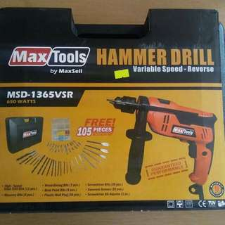 Hammer Drill and Angle Grinder Package