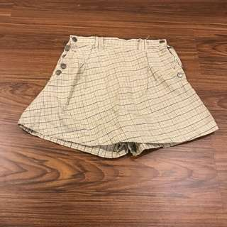 Checkered Palda Shorts