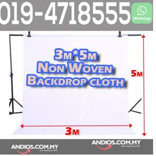 In-Stock✔Non woven Fabric Cloth Backdrop Background-White 3X5meter Studio