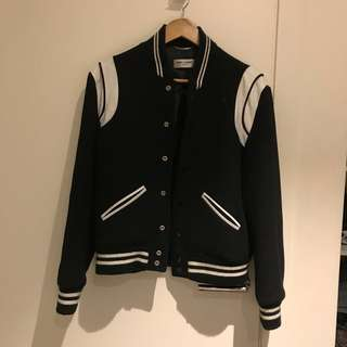 Authentic Saint Laurent Teddy Jacket in Black Wool