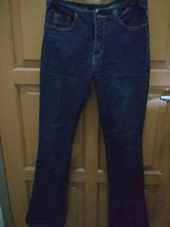 Celana jeans hitam strech