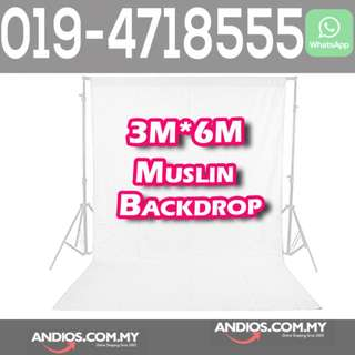 In-Stock✔3M*6M Photo Studio Video Muslin Photography Backdrop Backgroud Cloth White