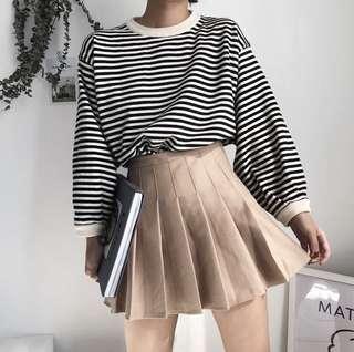 Beige AA Inspired Tennis Skirt