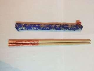 木製筷子連套